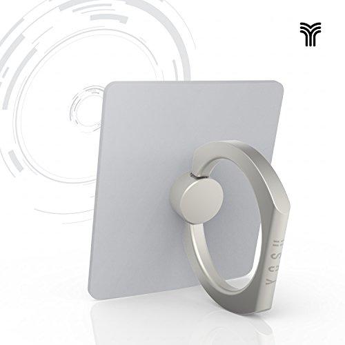Yosh® Finger Grip Anello Universale Supporto Smartphone✪ GARANZIA A VITA ✪ con 360 rotazione Anello Gancio per cellulare,smartphone,tablets. Anti-drop e chiusura antifurto (Argento)