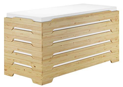 Erst-Holz® Extra niedriges Stapelbett Kinderbett in kompakter Form 80x190 Massivholz Kiefer V-60.41-08-190, Ausstattung:Rollrost und Matratzen inkl.