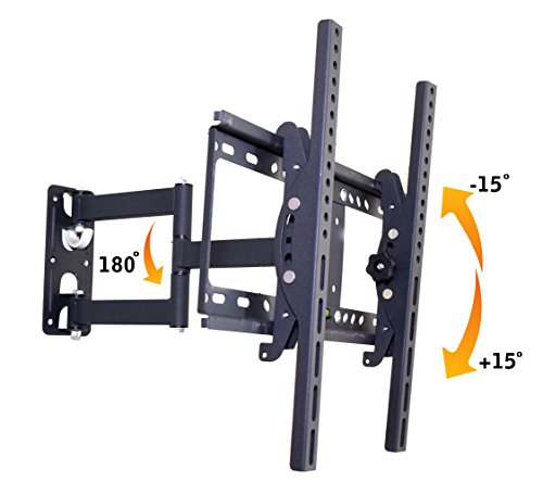 RiaTech Full Motion Articulating TV Wall Mount Bracket for 32-55 inch TVs 120 Degrees Swivel Rotatable Bracket