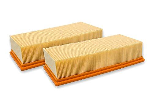 vhbw 2X Flachfaltenfilter Filter wie 6.904-283.0 Kärcher Nass-/Trockensauger NT 65/2 Ap, NT 65/2 Eco, NT 65/2 Eco Tc, NT 72/2 Eco Tc, NT 75/2 Ap Me Tc