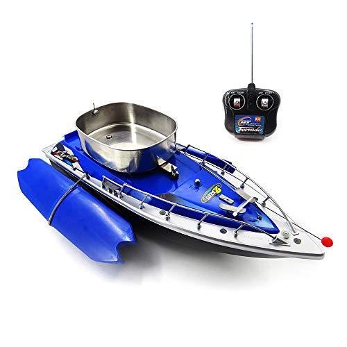 DingLong Fischfangboot,Flytec Elektro-Fischköder RC Boat 300M Remote Fish Finder mit Suchscheinwerfer (Blau)
