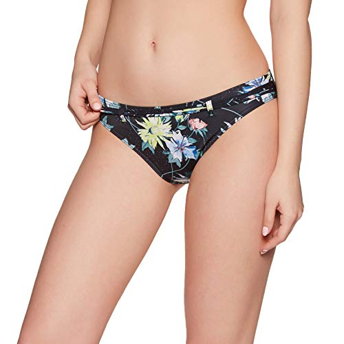 O'Neill Damen PW Cruz Mix Bikini Hose, Schwarz All Over Print mit Grün, 40 -