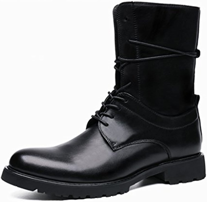 Herren Lederschuhe Herren Lederstiefel Martin Flut Armee Stiefel Fashion Tooling Lokomotive Stiefel Schuhe Herrenschuhe