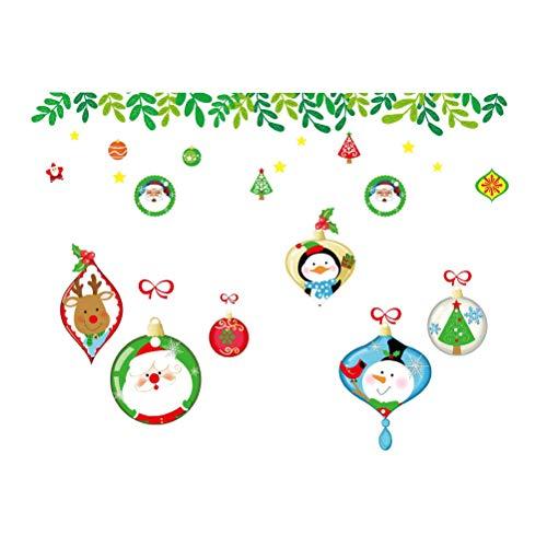 BESTOYARD Weihnachtsfenster Aufkleber elektrostatische Glas Decals Free Collage -