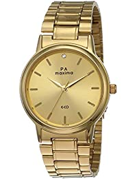 Maxima Formal Gold Analog Gold Dial Men's Watch - 26770CMGY