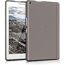 kwmobile Crystal Case para Asus ZenPad 8.0 Funda de silicona TPU - Funda protectora para tablet, fina en negro transparente