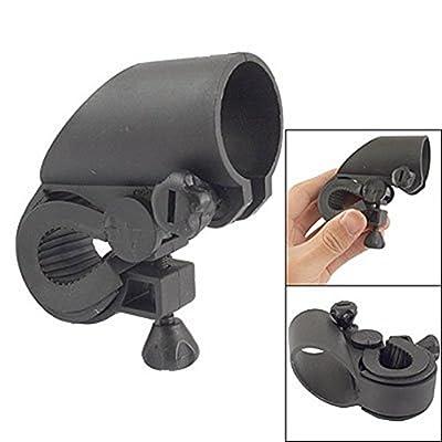 SODIAL(R) Schwarz Kunststoff LED Taschenlampe Halter Halterung f¨¹r Fahrrad von SODIAL(R) - Outdoor Shop