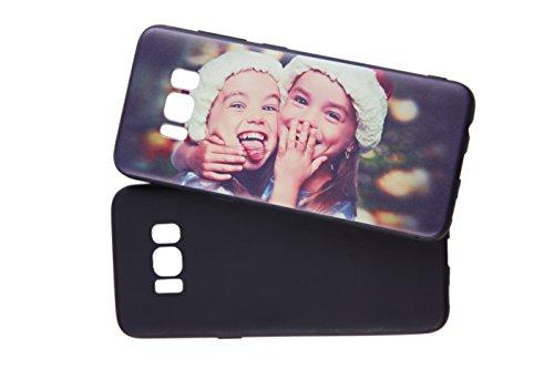 Oking Moto G5S Custodia Cover personalizzata souvenir per serie Motorola Lenovo,design personalizzato con stampafoto e testo personalizzati.Case:Silicone/Nero