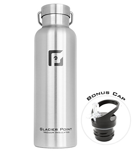13f7116145 Glacier Point Vacuum Insulated Stainless Steel Water Bottle 25oz (Brushed  Stainless) Buy Glacier Point