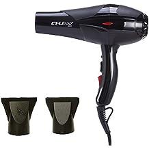 Sèche-cheveux,CHJPro 8800 Sèche Cheveux de Ionique Ceramique,le Pro Volume de lumière 2300W,avec La technologie de Séchoir Parfumé,Noir,EU charger
