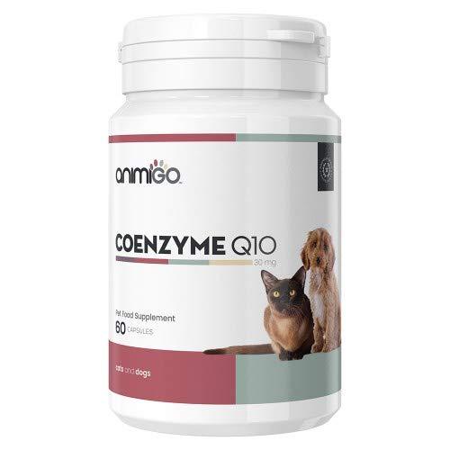 Animigo CoEnzym Q10 30mg 60 Kapseln Nahrungsergänzung für das Wohlbefinden von Hunden und Katzen