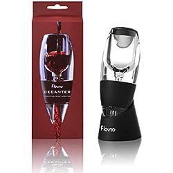 Flauno Décanteur à Vin, Aérateur Essentiel avec Vin Filtre et Base, Matériau de Qualité Alimentaire, Boîte de Cadeau, Idéal pour Les Amateurs de Vin