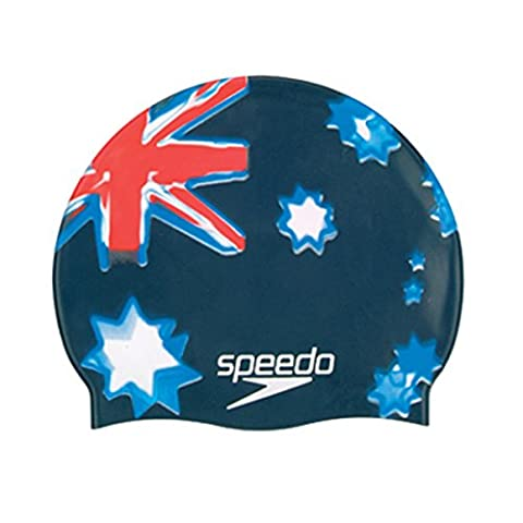 Speedo Unisex Adult Silicone National Flag Swimming Cap - Australia