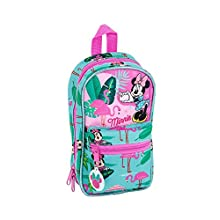"Minnie Mouse""Palms"" Official Toiletry Bag with 4 Cases and Useful 120 x 50 x 230 mm"