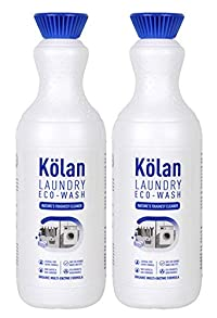 Kolan Organic Biodegradable Laundry Clothing Detergent 700 ML - Ideal for Both Top and Front Load and also Hand Wash (Suitable for all Types of Fabrics) - Combo Pack of 2