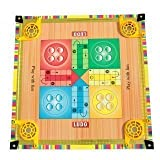 #4: Chhabra Toys 2-in-1 Big Carrom Board with Ludo Game for Kids with Carrom Powder Also Included Size 17 × 17 inches