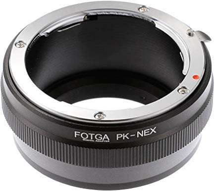 Fotga Adapter Ring für Pentax PK K Objektiv auf Sony E-Mount Kamera 5R 5T 3NEX-6NEX-7a7A7S A7R a7II a7sii a7rii A6500A6300A6000A5100A5000A3000FS700VG10VG20VG30NEX-VG900pxw-fs7 - Kamera-objektiv Pentax Für