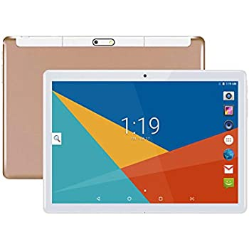 Tablet 10 Pulgadas, Fire HD 10.1 Tablets PC (Android 8.1, 3G, WiFi, Octa Core, 4 GB de RAM, 64 GB de ROM, GPS, Dual SIM Card, 1080P) , (Oro)
