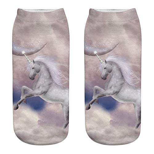 Digital Care Kit (Liumiang Socken,Kompressionsstrümpf,Dancing Unicorn Digital Print Socks Cotton Wholesale 4)