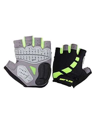 WYSTAO Handschuhe halbe Fingerhandschuhe Männer und Frauen Modelle dicken Silikon-Stoßdämpfer Sommer atmungsaktiv Mountainbike Fahrrad mit grünen Handschuhen (Farbe : Grün)