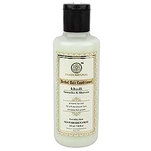 Khadi Natural Hair Conditioner, Herbal Green Tea and Aloevera, 210ml