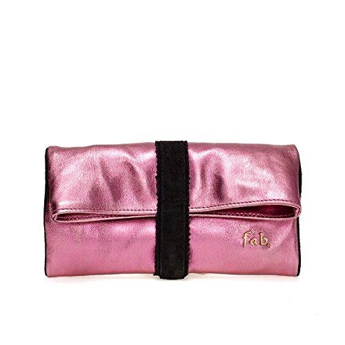 Fab by Fabienne  New york clutch, Damen Baguette Pink rose pink metallic