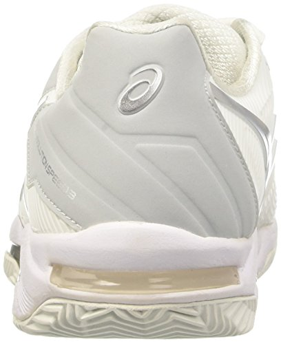 Asics Gel-Solution Speed 3 Clay, Scarpe da Ginnastica Donna Bianco (White/Silver)