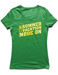 lepni.me Camiseta Mujer Vacaciones de Verano - Modo Activado - Último día de Clases