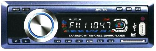 STEREO AUTORADIO MP3 Autoradio MP3-603 con USB e SD/MMC NEW MWS