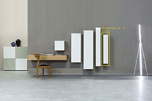 KITOON Grundmodul Nr. 8 (B 114 H 19 T 35 oder 48 cm) – Vertikal, Tür links, Tiefe 48 cm, Eiche geölt (Echtholzfurnier) - 3