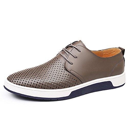 LILY999 Zapatos Cuero Hombre Oxford Cordones Brogue