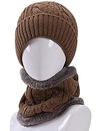 YXDDG Gorro de Invierno Punto Slouchy Gruesa Caliente Unisex Deporte al  Aire Libre Beanie Sombrero de Gran tamaño Holgado Rojo… 9de03f2dac3