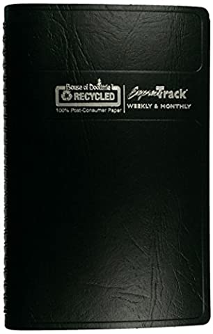 House of Doolittle Express Track Weekly/Monthly Planner 13 Months January 2015 to January 2016, 5 x 8 Inches, Black Cover, Recycled