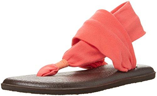Sanuk Yoga Sling#2, Infradito Donna Corallo
