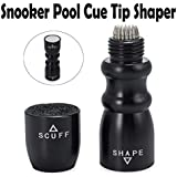CAMWAY 3 In 1 Tool - Shaper Snooker Pool Cue Tip Shaper, Scuffer, Aerator Black