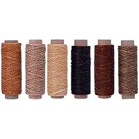 SUPVOX línea encerada cable de costura de hilo de coser práctico duradero para costura artesanal 6 piezas