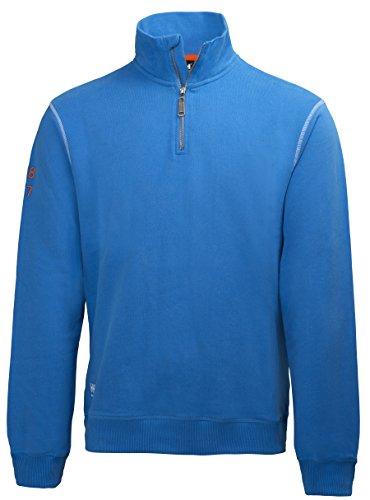 Kapuzen Xl Sweatshirt Jersey (Helly Hansen Workwear Sweatshirt mit Reißverschluss Oxford HZ Sweater 530 racer, Größe XL, blau, 79027)