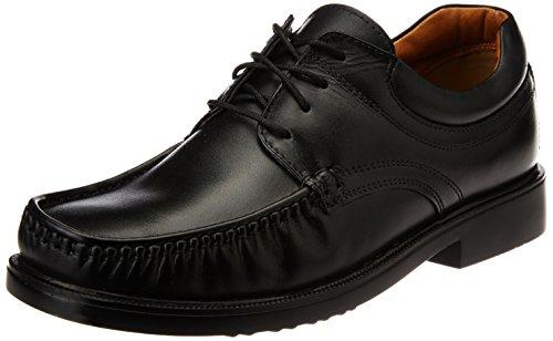 Bata Men's Pumoc Black Leather Formal Shoes - 7 UK (8246548)