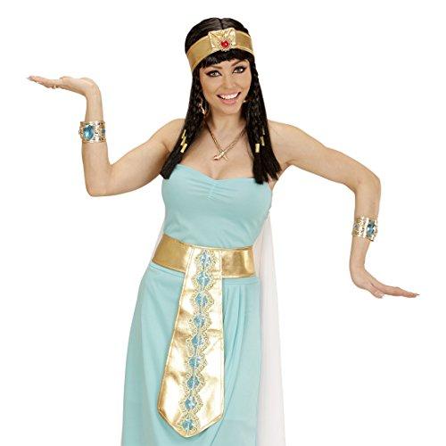 Amakando Goldene Cleopatra Kette Ägyptische Halskette Königin Schlangencollier Antike Pharao Schlangenkette Göttin Schmuckkette Kostüm Accessoire Schlangen Halsschmuck Ägypten (Ägyptischen Göttin Cleopatra Kostüm)