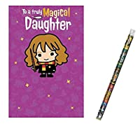 Unique Industries and Danilo Harry Potter Magical Daughter Birthday Card with a Harry Potter Pencil Gift