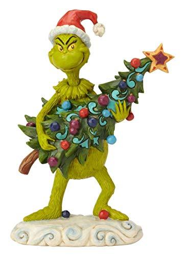 ENESCO Figur Dr. Seuss The Grinch by Jim Shore stehlender Baum, 22 cm, Mehrfarbig