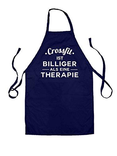 Dressdown Crossfit ist billiger als eine Therapie - Unisex Schürzen Für Kinder - Navy - 3-6 Years (Schürze Crossfit)