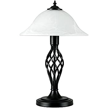 Traditional style satin black barley twist table lamp with a frosted traditional style satin black barley twist table lamp with a frosted alabaster shade aloadofball Images