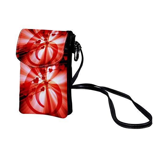 Liebes-Herz-geformtes Anmerkungs-Rot Hochwertige Leder-Kartentasche Tragbare Geldbörse Leichte Umhängetasche Brieftasche für Frauen, Männer, Kinder