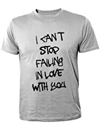 Mister Merchandise Homme Cool Fun T-Shirt Chemise Tee I can´t stop failing in love with you