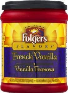 Fresh Taste of Folgers Coffee, French Vanilla Flavored Ground Coffee, Mellow & Smooth Flavor, 11.5 Oz Canister – (1 pk) by Folgers 41DVgZyvXnL