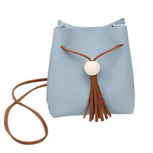 squarex Mode Quasten Eimer Tasche Mädchen Umhängetasche coin Phone Bag (Handtasche Eimer Tasche)