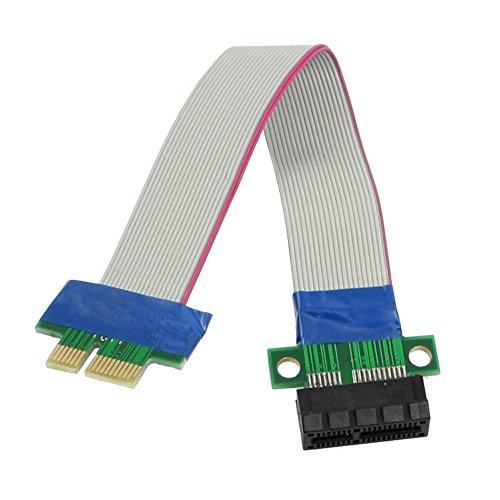 Preisvergleich Produktbild SODIAL (R) PCI-Express-PCI-E 1 x Riser Card Flex Extender Verlaengerungskabel fuer PC