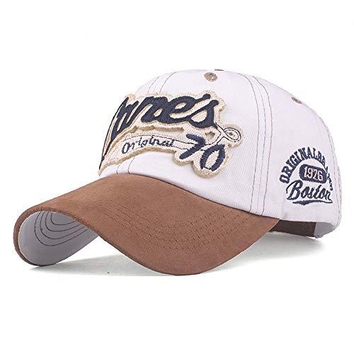 KFEK Gewaschene Baseballmütze Buchstaben Stickerei Baumwolle Hut Männer und Frauen Hut Mütze B