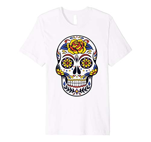 (Frau Skull Candy tshirt- Mexikanischer Tag der Toten Shirt Make-up)